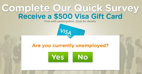 Free 500 Visa Gift Card Unemployment Survey Visa Gift Card Gift Card Paypal Gift Card
