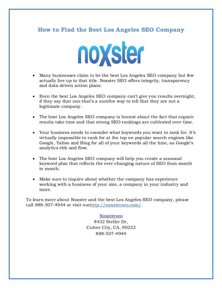 Noxster Seo Offers Integrity Transparency And DataDriven Action