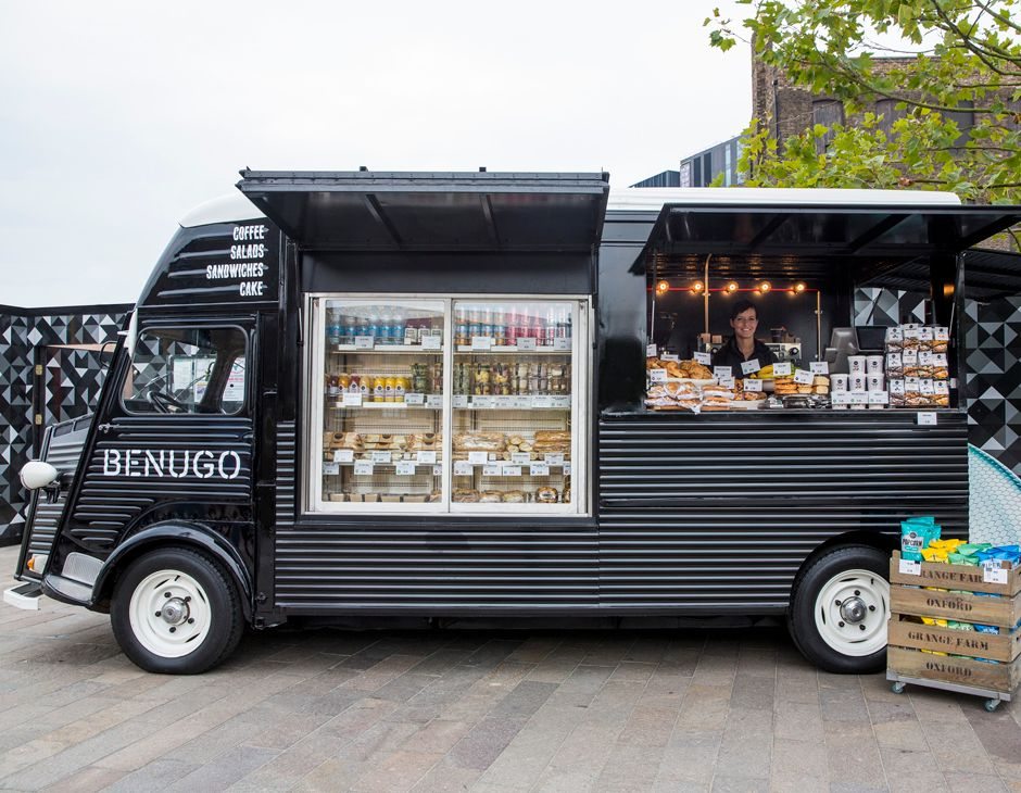 Ico design benugo brand environment print boys for Food truck blueprint