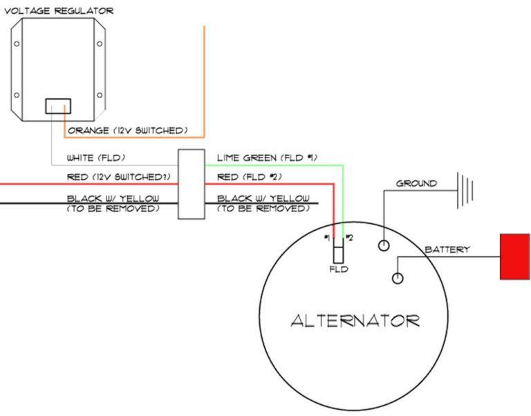 Mopar Alternator Wiring Diagram Alternator Diagram Voltage Regulator