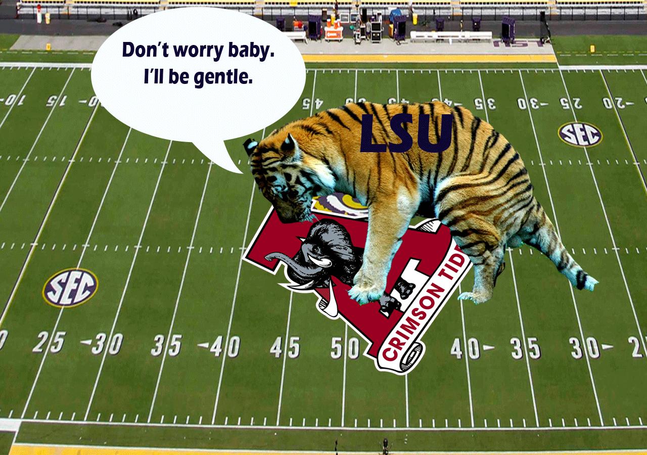 LSU Tigers vs Alabama Crimson Tide Desktop Computer Wallpaper