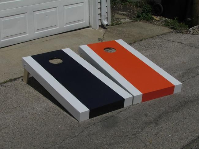 corn hole board designs ideas how to build a cornhole set simple bears themed - Cornhole Design Ideas