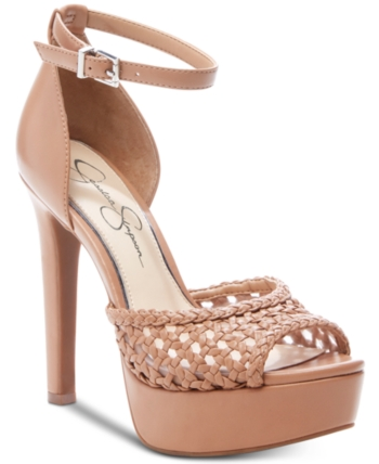 d42c9450a5 Jessica Simpson Beeya Two-Piece Platform Sandals, Created for Macy's -  Tan/Beige