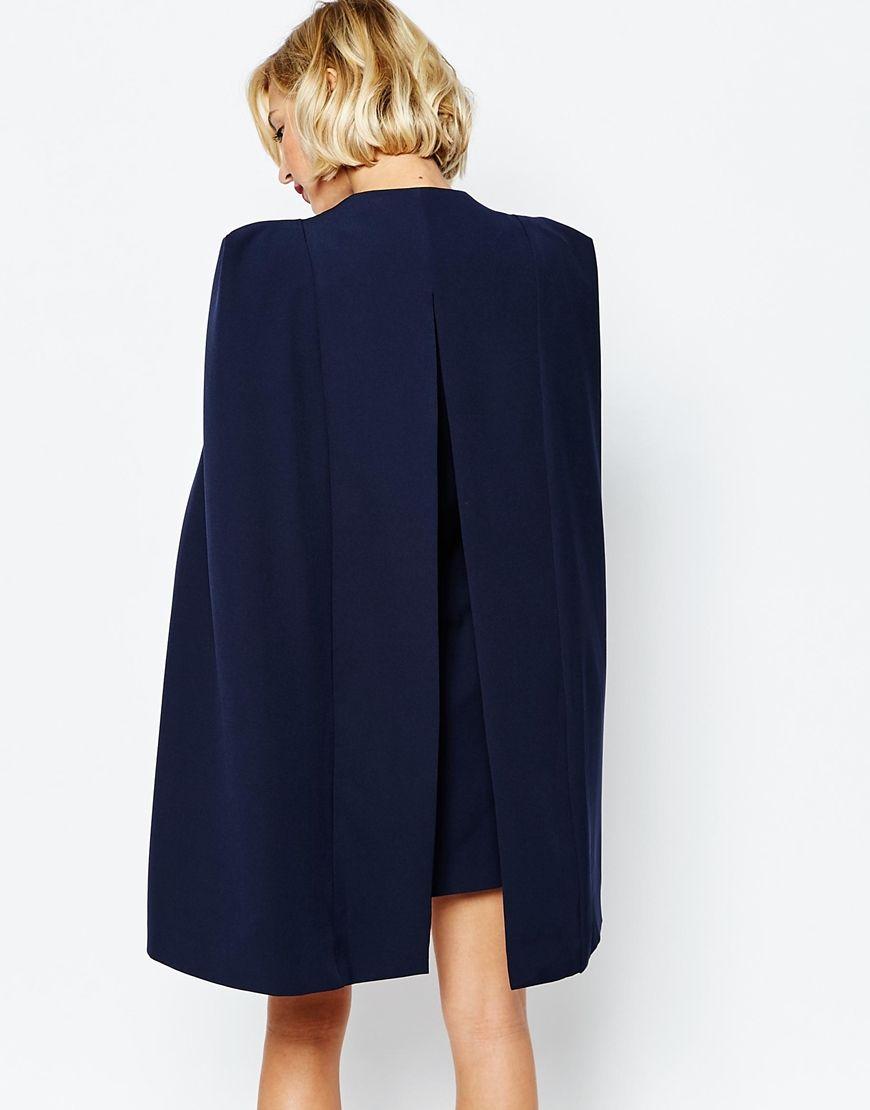 Image 2 of Lavish Alice Split Back Cape Dress   สูท เสื้อคลุม ... 4f4aed08f44d