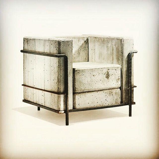 Le Corbusier LC2 Stone Edition | in concrete | Pinterest