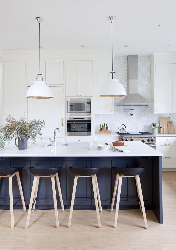 Herringbone backsplash with shaker cabinetry super dreamy kitchen