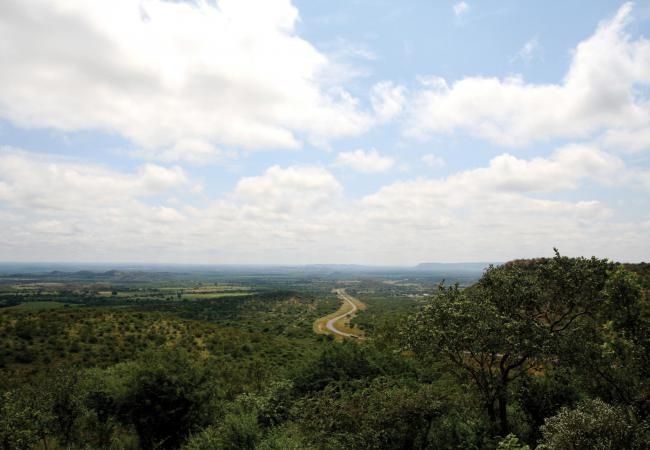 Scene from Polokwe Viewpoint en route to Kanye