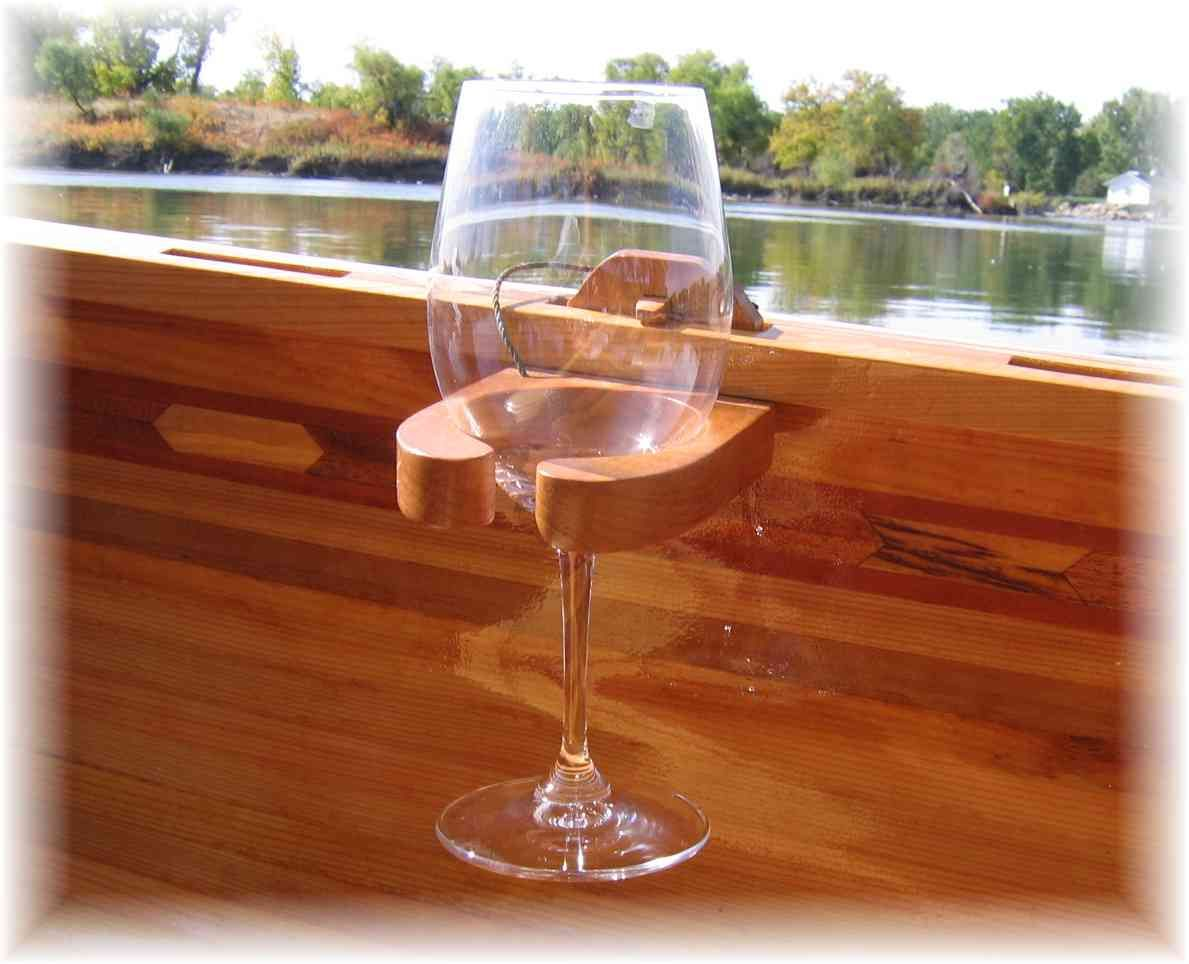Wood Canoe Wine Glass Holder Canoes Wood Canoe Wooden Boat Plans
