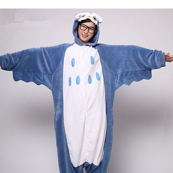 Owl Costume Pajamas KIGURUMI Cosplay Romper Charactor by xdomo ... cc7446b67