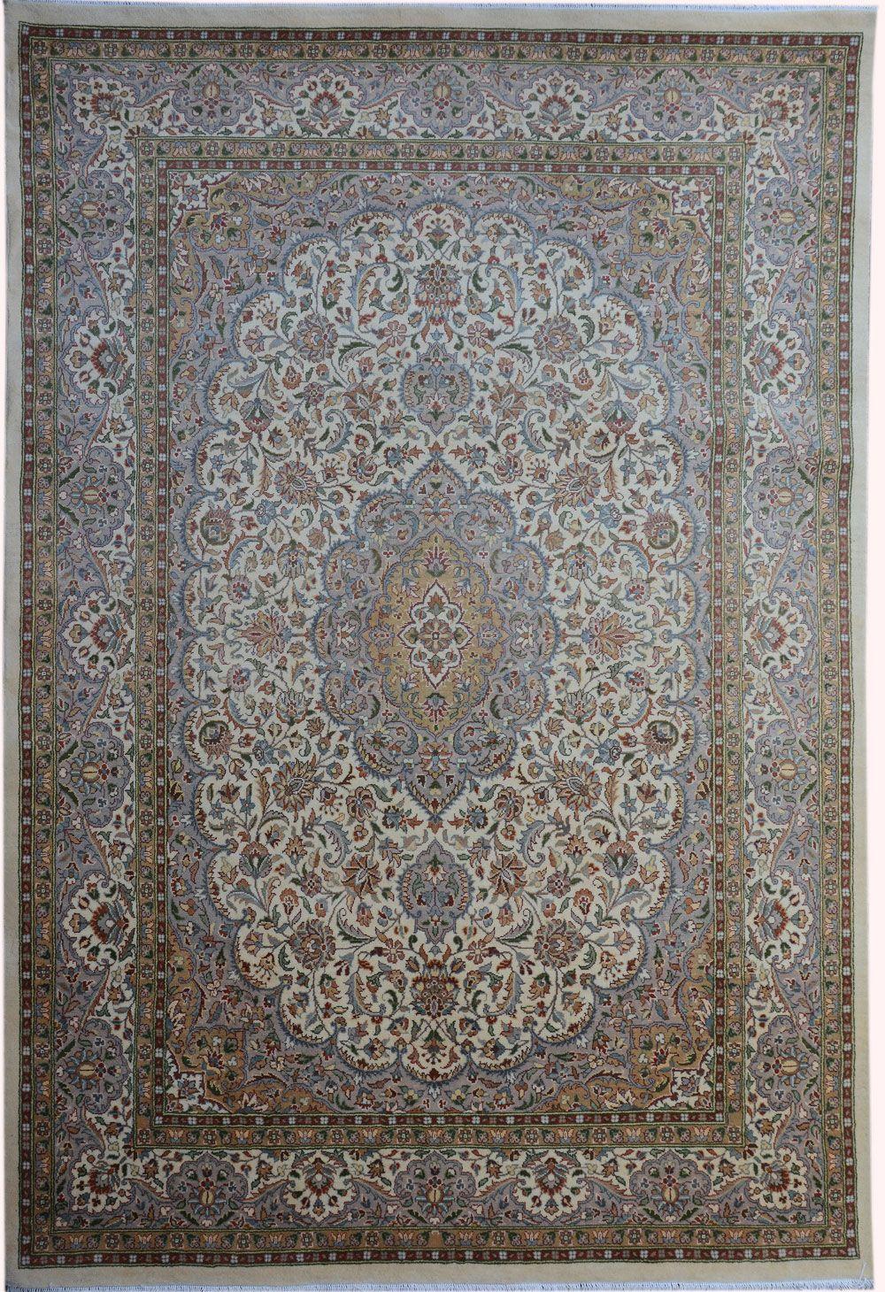"Beige Kashan Persian Rug 10' 1"" x 6' 11"" (ft) http://www.alrug.com/9715"
