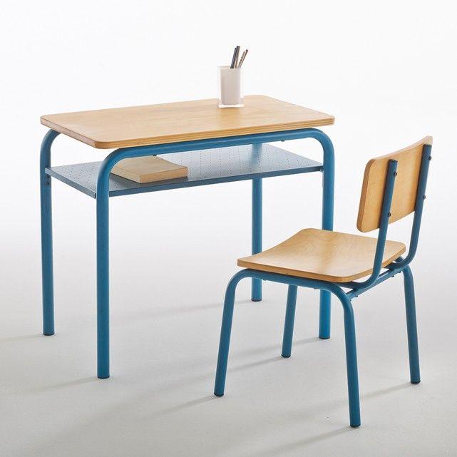 Buton Vintage Wood & Metal School Desk and Chair | School ...