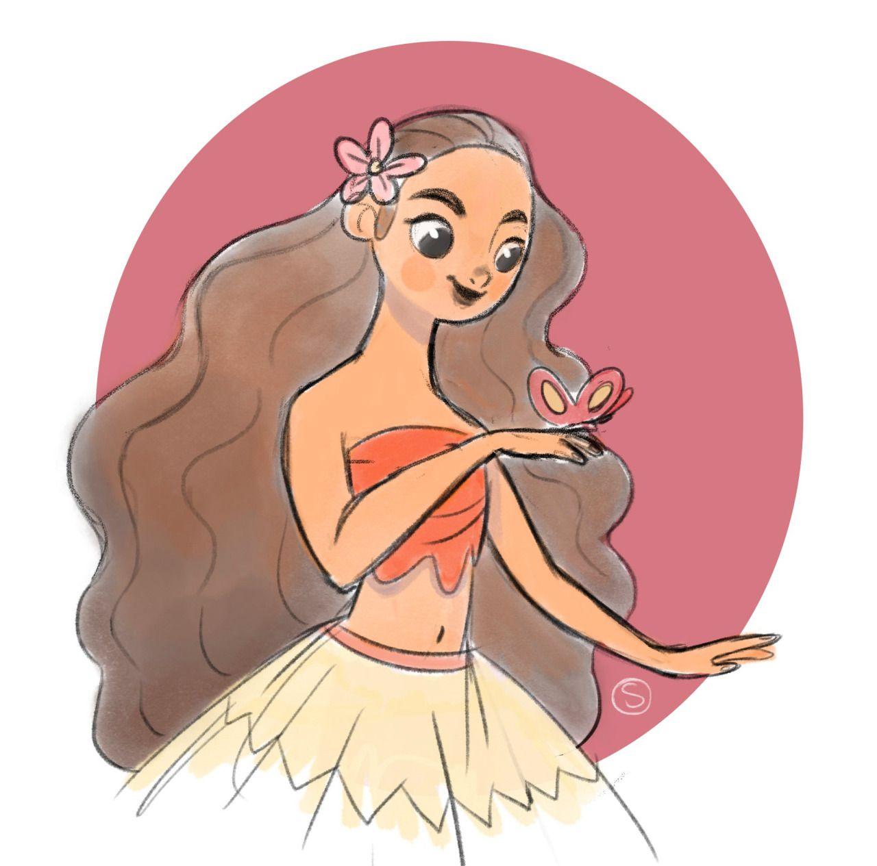Moana fan art ;) Disney princess moana, Disney sketches
