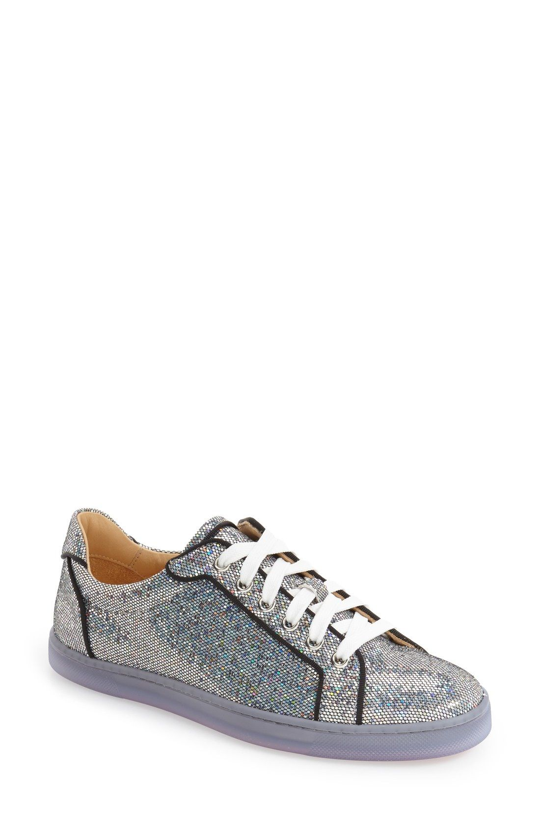 differently 61a0c 94968 Christian Louboutin 'Seava' Disco Ball Glitter Sneaker ...