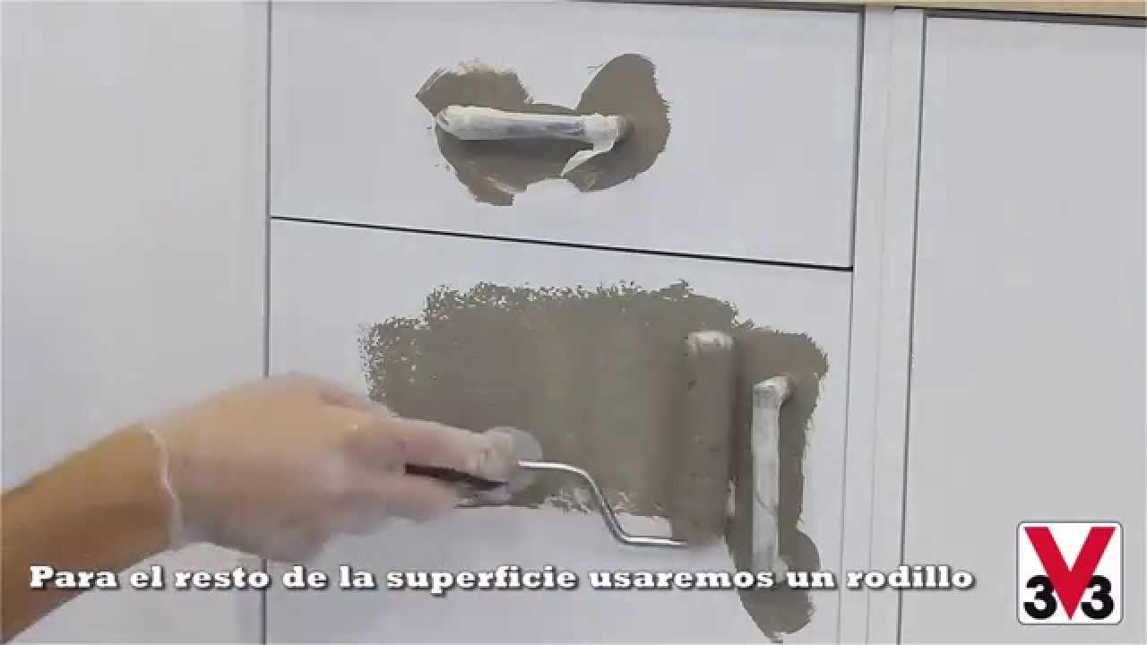 V33 Paso A Paso Pintando Azulejos Y Muebles De Cocina Reformas  ~ Como Pintar Un Mueble De Cocina