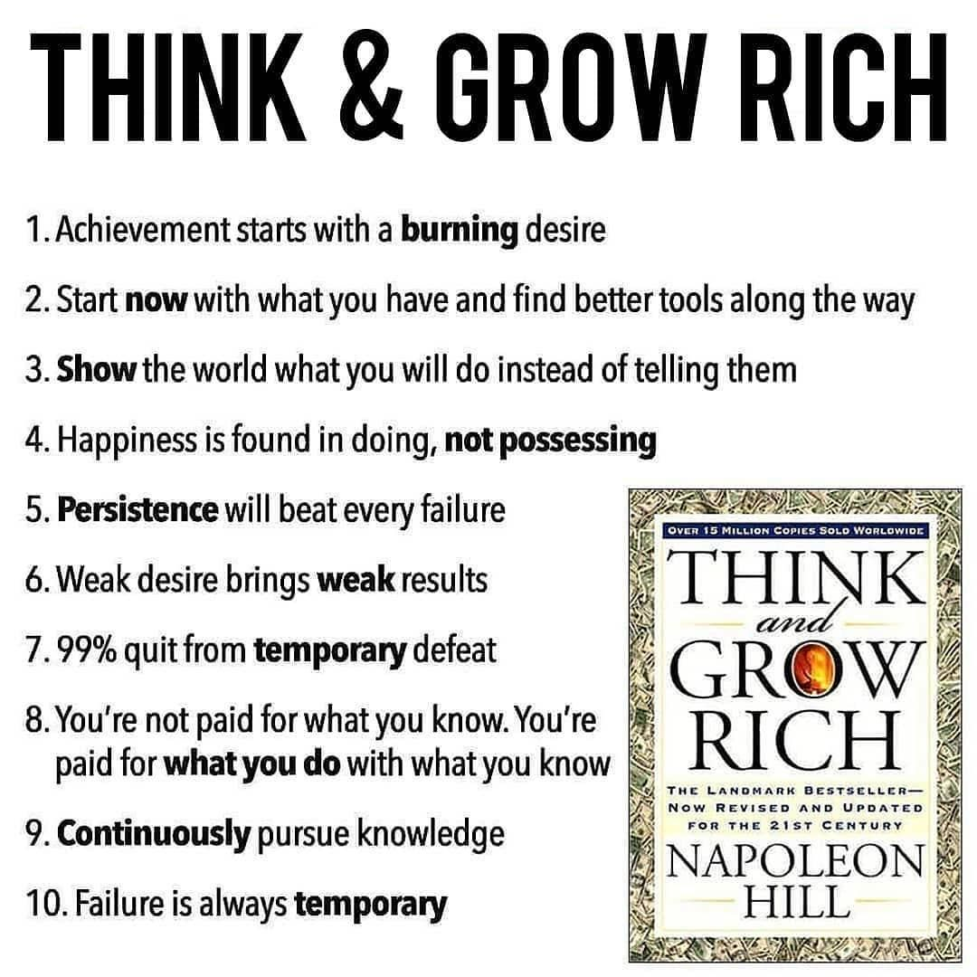 If You Are Trying To Incease Something Money That Burning Desire Has To Be There Passion Think And Grow Rich Rich Quotes Motivational Quotes For Success