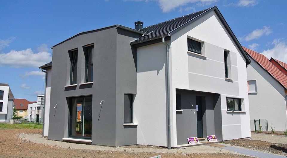 Exemple de construction de maison moderne en Alsace Nos - facade de maison moderne