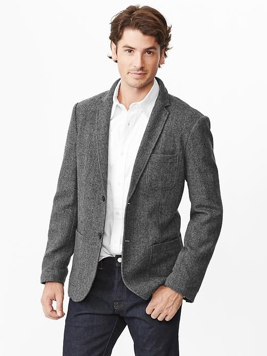 Gap | Wool herringbone blazer | fancy looks | Pinterest ...