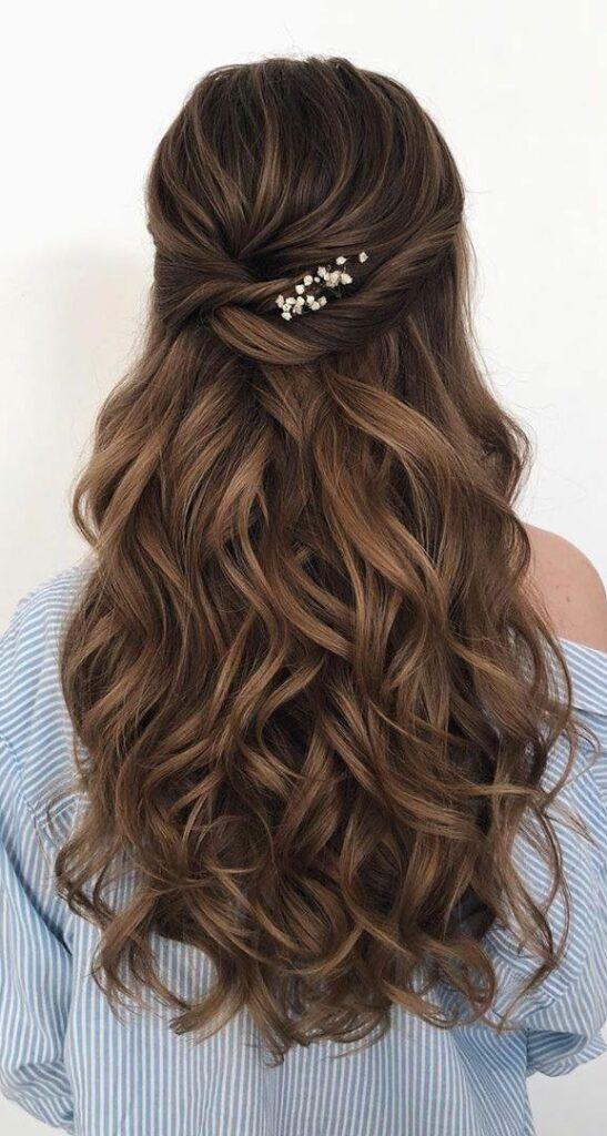 Photo of #wedding hair style girl #wedding hair long #extensions wedding hair #braids for…