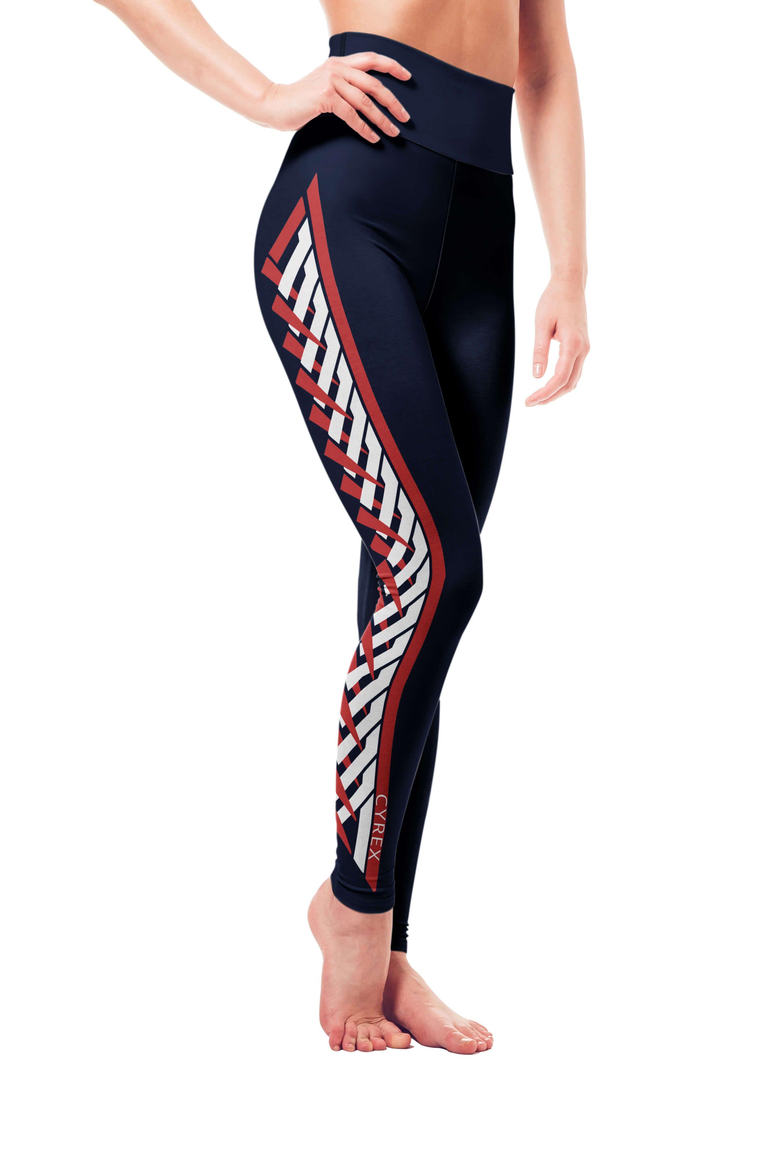 f7fa156b831602 Navy yoga leggings Vosenta Raised waistband leggings #fashion #style # leggings #ootd