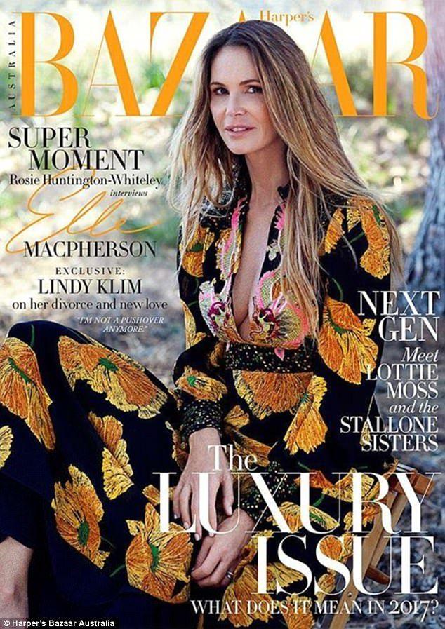 Elle Macpherson, 53, looks youthful on Harper's Bazaar cover | Elle