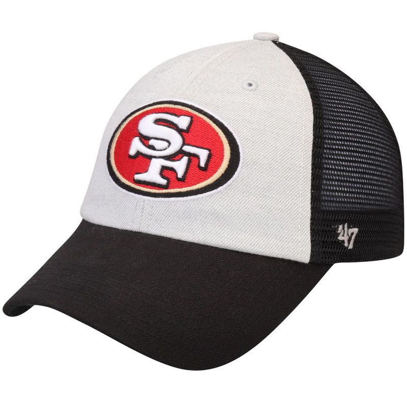 fd164d45 San Francisco 49ers '47 Belmont Adjustable Hat - Gray/Black ...