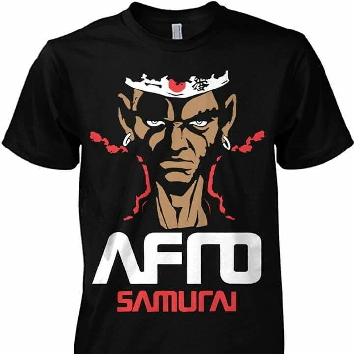 Afro samurai tee afro samurai t shirt samurai