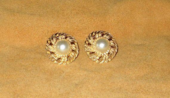 Vintage 60 S Cathe Earrings Signed Vintage Costume Jewelry Vintage Jewelry Earrings