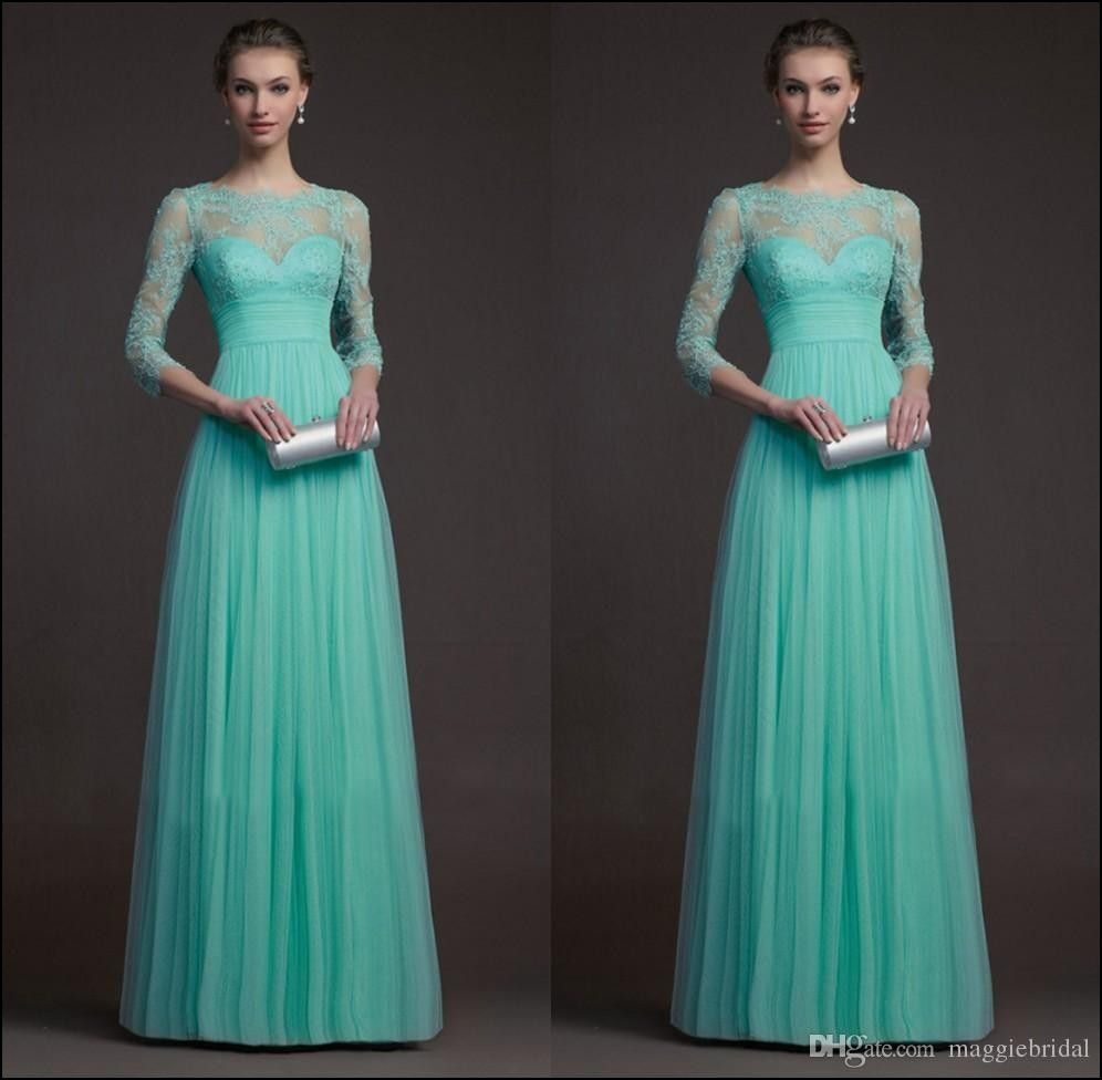 Turquoise Bridesmaid Dresses with Sleeves | Dresses and Gowns ...