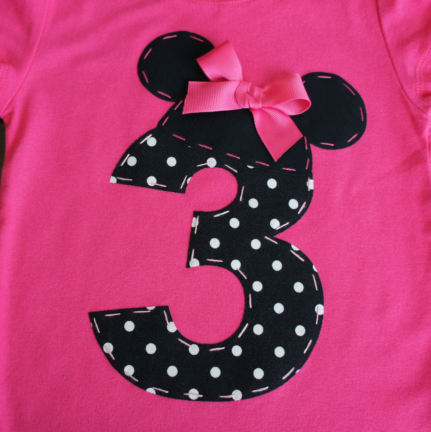 18-24m ONLY Minnie Mouse Ears and Number Birthday shirt- LIMITED ...