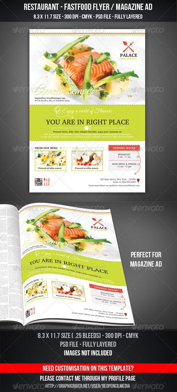 Restaurant Fastfood Flyer Magazine Ad