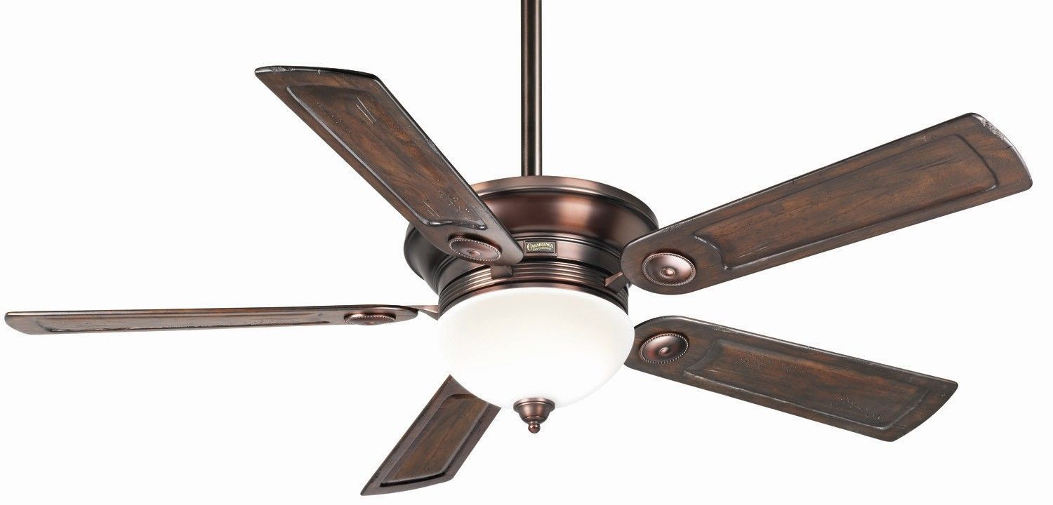 52 Tibuh Punched Metal Crystal 5 Blade Ceiling Fan With Remote Ceiling Fan Bronze Patina Fan