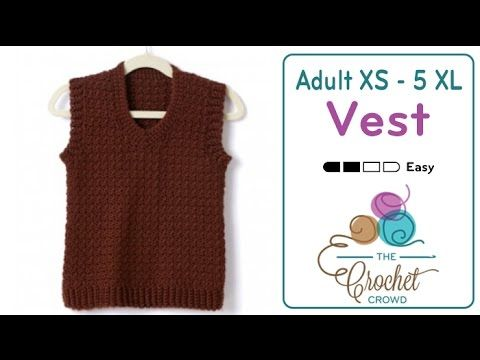 Learn To Crochet With Free Videos Of Techniques And Projects Mikey Is The Creative Director And Video Crochet Men Crochet Vest Pattern Sweater Crochet Pattern