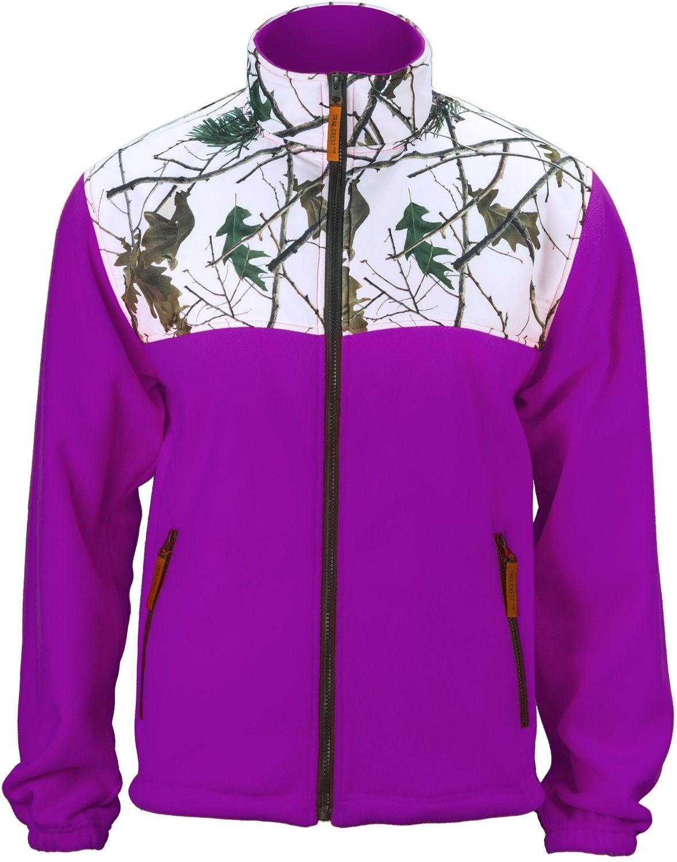 85ee43644124d Women's Camo Fleece Full Zip C-max Wind Jacket - Snow Camo/Neon Purple -  CN18327MS5Q,Women's Clothing, Coats, Jackets & Vests, Active & Performance,  ...