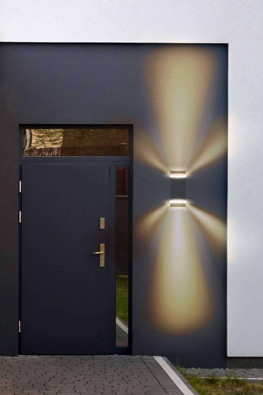 Up And Down Lampe Aussen Sela Led Wandleuchte In 2020 Led Outdoor Wall Lights Wall Lights Outdoor Wall Lighting