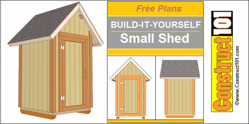 Small Garden Shed Plans 4x4? Gable Shed #buildingashed # ...