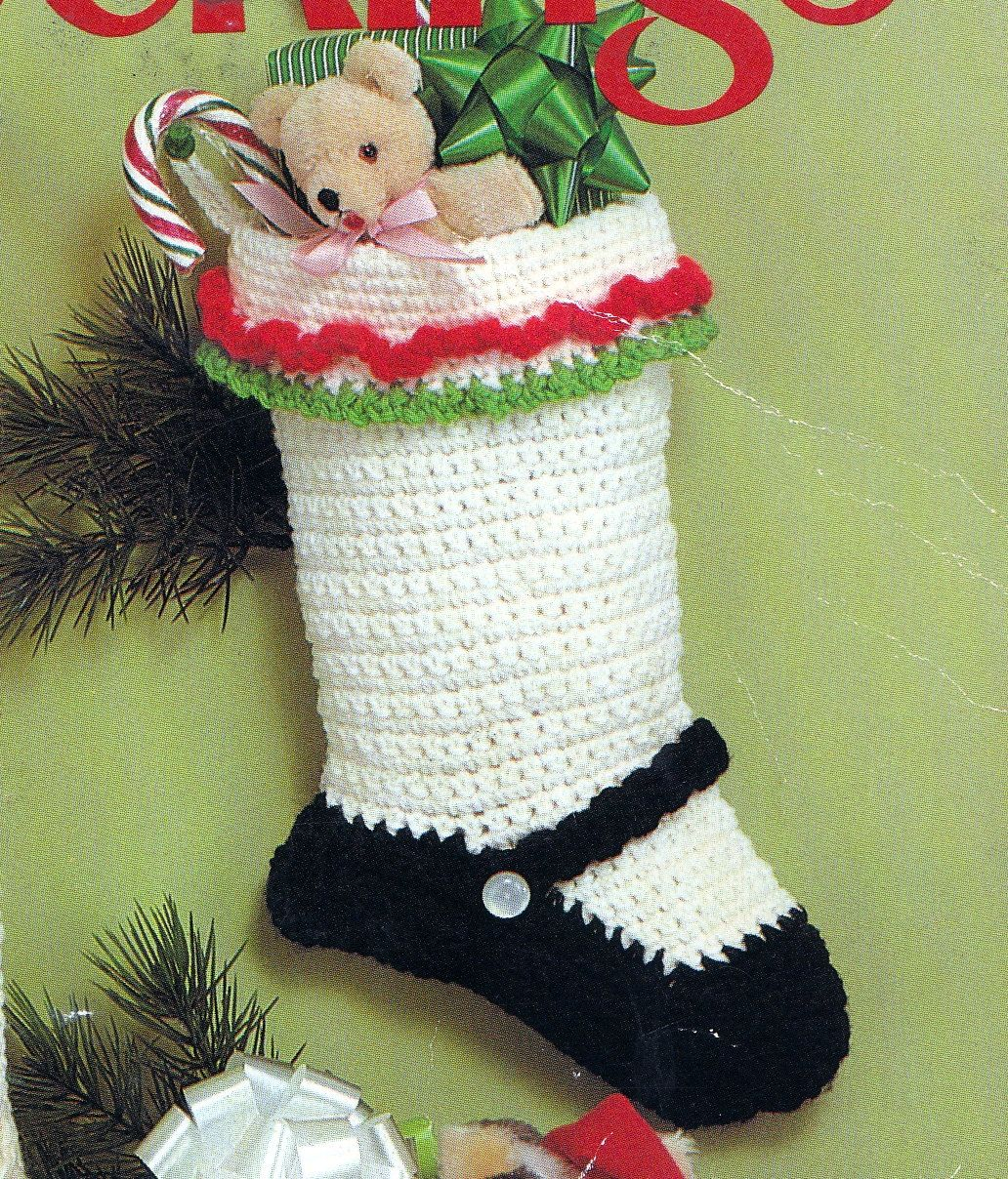 Crochet christmas stocking mary jane vintage crocheting pdf crochet christmas stocking mary jane vintage crocheting pdf pattern 250 via etsy bankloansurffo Image collections