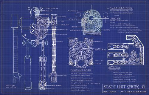 Blueprint end papers by Dan Santat #STEM #STEAM Recommended by - copy blueprint of a book
