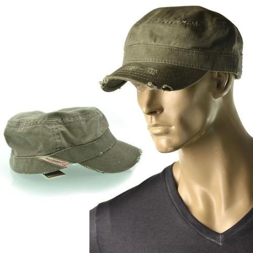 Diesel Hat Mens Cortese Service Military Cotton Cadet Hat 135745e4204