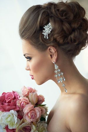 Макияж на свадьбу прическа