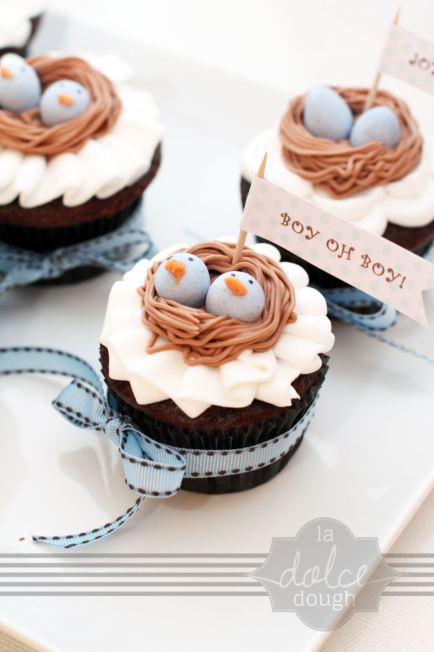 Bird S Nest Twin Baby Shower Cupcakes Delicious Cupcakes Recipes