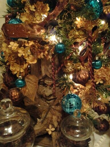 Christmas in Brown, Turquoise, & Nature