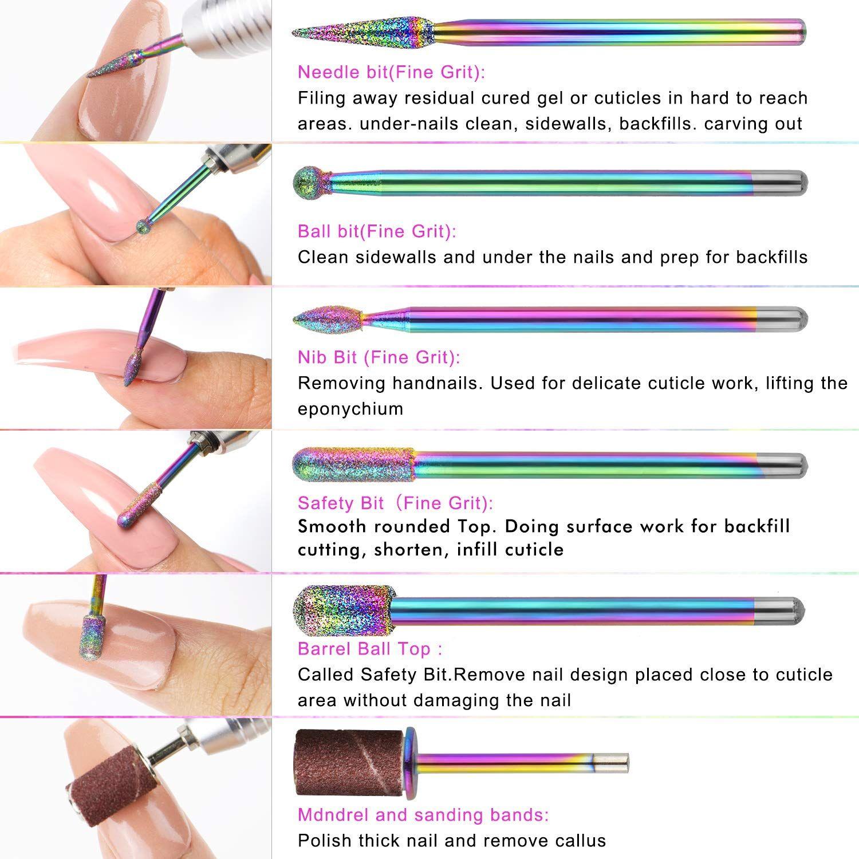 Electric Nail File Nail Drill Ejiubas Portable Nail Drill Machine Nail Drills For Acrylic Nails Handpiece Dril In 2020 Acrylic Nail Drill Nail Drill Acrylic Nail Kit