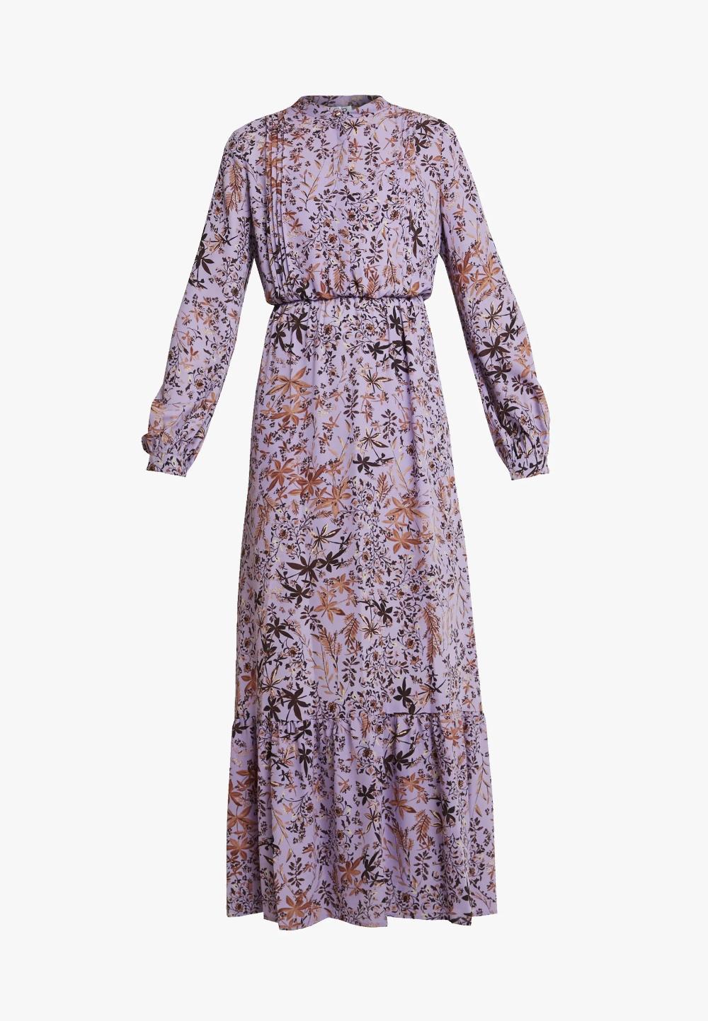 liu jo jeans abito long dress - maxikleid - purple/lila