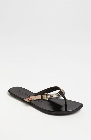 473d2548a533d2 Free shipping and returns on Burberry  Parsons  Sandal at Nordstrom.com.  Iconic checks accentuate the buckle-detailed strap of an easy-wear thong  sandal.