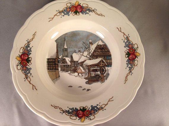 Loux Utzschneider Cie Soup Bowl 1900 Porcelain Earthenware