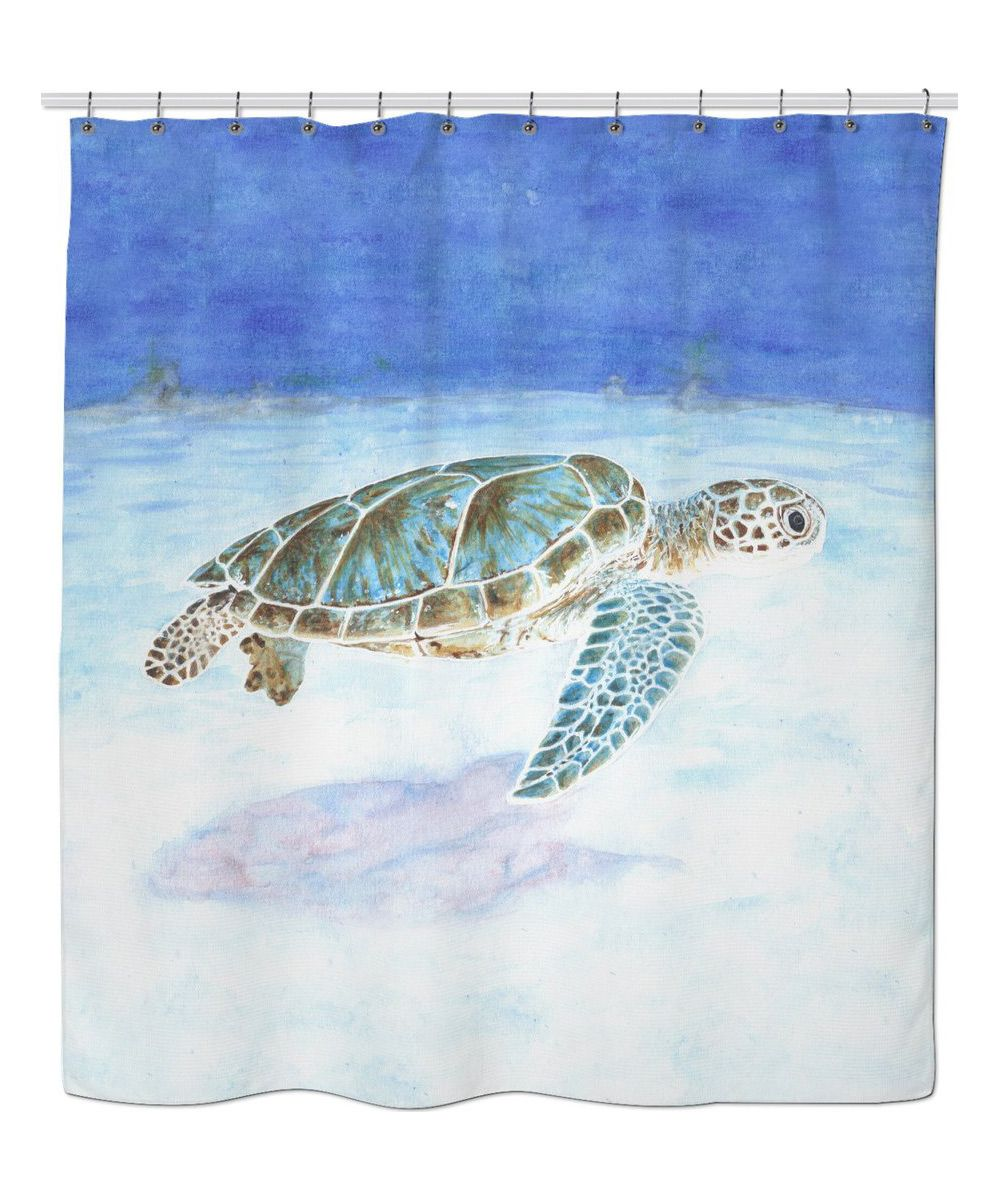 Sea turtle underwater Shower Curtain   Sea turtles, Underwater and ...