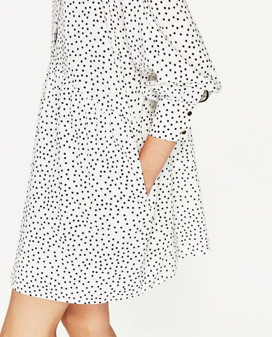 69e6d519 Image 6 of POLKA DOT SHIRT DRESS from Zara | wishlist | Fashion ...
