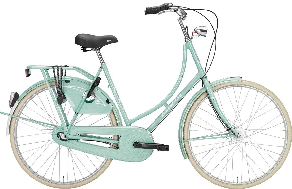 bikes holland excelsior luxus hollandrad 28 zoll damen 3 gang lightmint rh56 bike. Black Bedroom Furniture Sets. Home Design Ideas