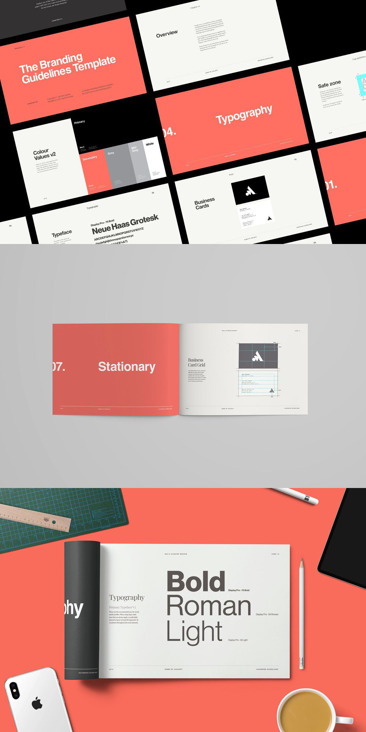 Simple design for Brand Guidelines Template. #adv #layout