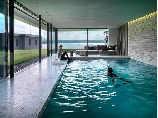 Stunning House By the Sea (7 pics) is part of Indoor outdoor pool - I think my heart just stopped  Check out this beautiful house  Awardwinning architecture firm Swiss Fine Line created this stunning coastal house that's